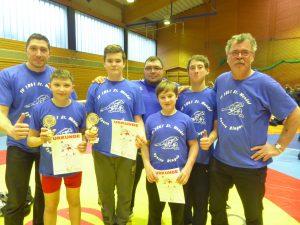 Erste Teilnahme an Landesmeisterschaften im Ringen