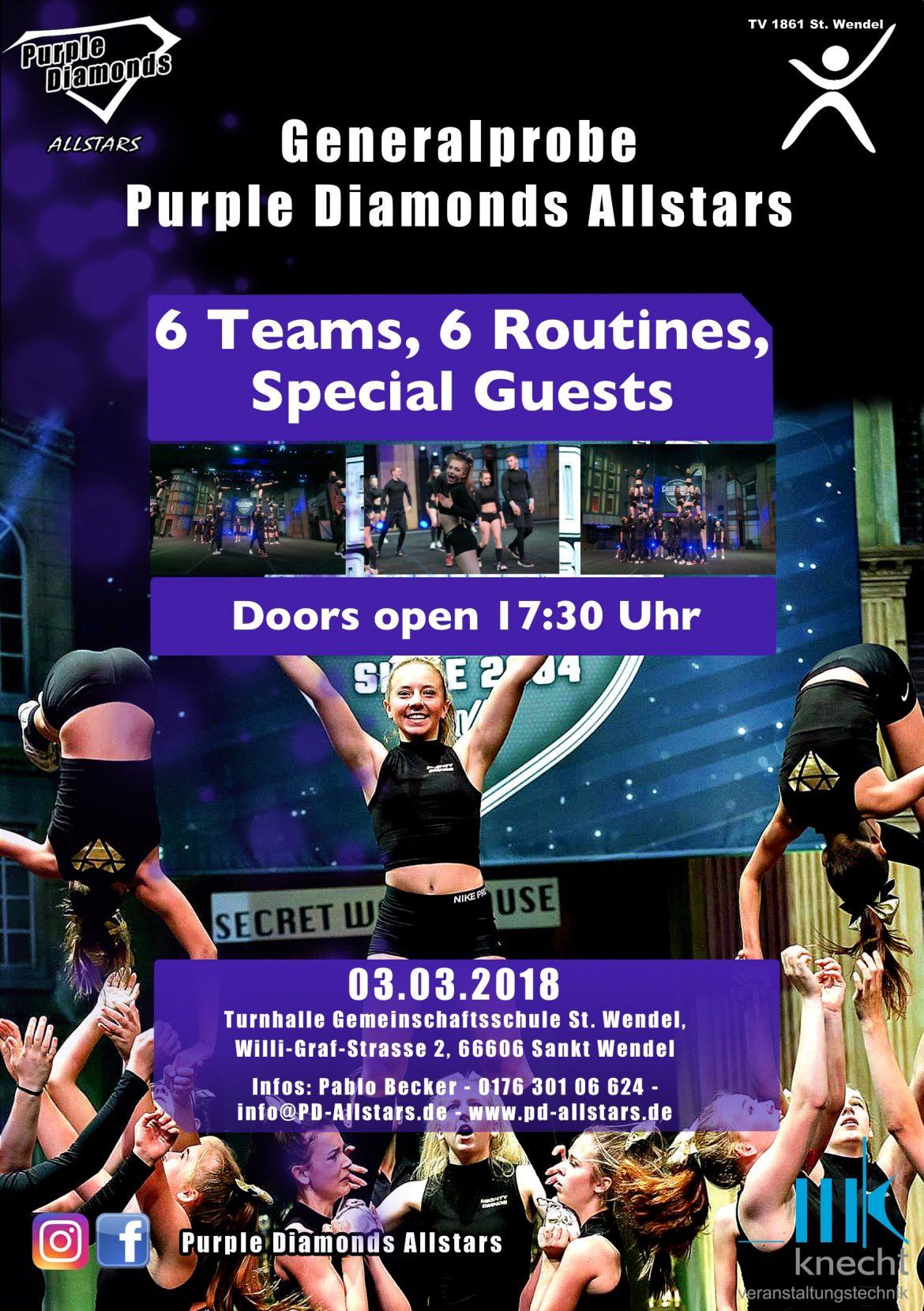 flyer generalprobe Cheerleading