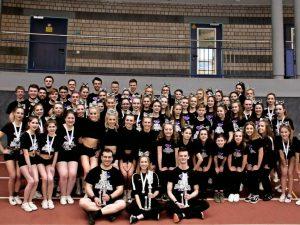 Die Cheerleader-Truppe Purple Diamonds Allstars war bei der Regionalmeisterschaft in Hanau erfolgreich