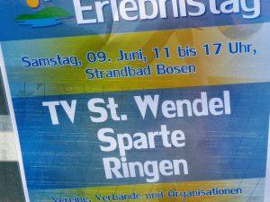 Sport- und Erlebnistag am Bostalsee. Bericht der Sparte Ringen