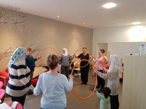 Integration durch Sport – Gymnastikgruppe und Sprachkurs