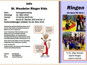 Schnuppertraining Ringer Kids (extra)