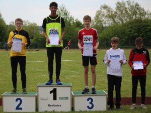4-facher Saarlandmeister bei den Saarländischen Meisterschaften U16/U14 in Püttlingen
