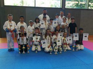 Kleine Karatekas mit Kampfgeist auf Platz 1