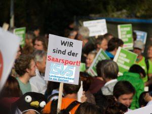 * An alle SLB-Vereine * – Demonstrationszug WIR sind der Saarsport!