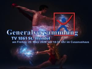 Einladung Generalversammlung des TV 1861 St. Wendel am 20.03.2020