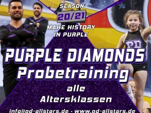 Purple Diamonds Probetraining