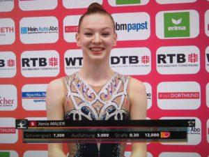 Xenia Mauer 6. im Reifenfinale, Deutsche Meisterschaft, Die Finals, Rhythmische Sportgymnastik